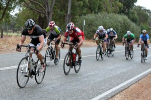 Adam Farrel winning C grade sprint