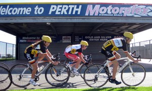 under 15 men and women in action at the Motorplex