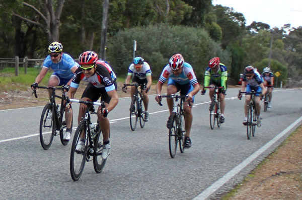 Tim Watson win the final sprint to secure overall victory in C grade.