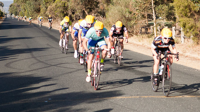 Cass Higgs takes out the bunch sprint for 4th in B grade