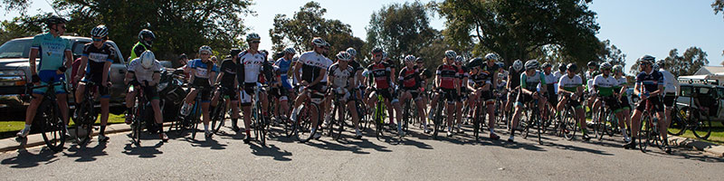 Over 60 riders faced the starter in B grade