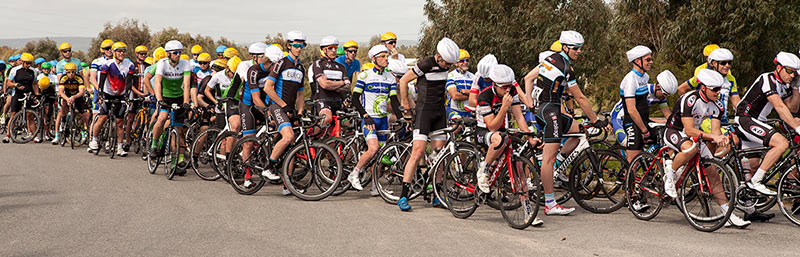 Some of the 100+ riders ready to race