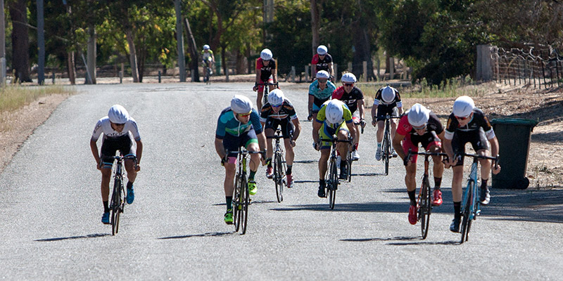 All eyes are on Conor Leahy in the A grade sprint