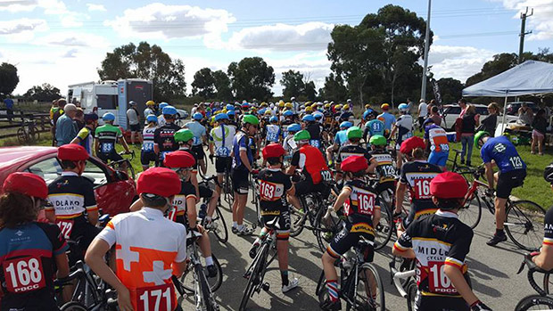 Over 100 riders lining up for the start: photo by Jade Smith