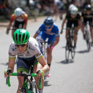 Jess Allen of Orica-AIS dishing out the pain in A grade