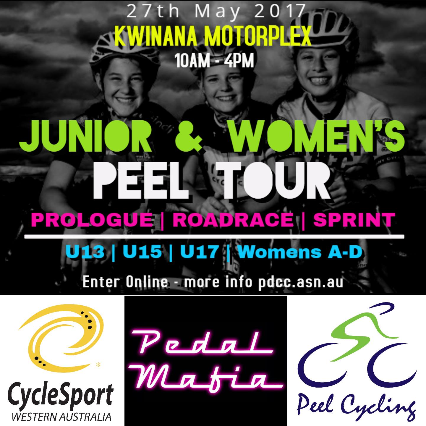 peel junior and womens tour flyer