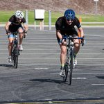 The finish to the D grade Road Race was close