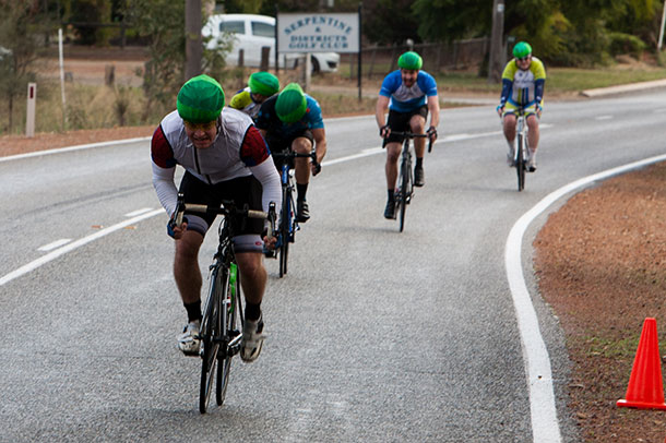 Matthew Colum sprint to victory in D grade
