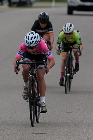 Emily Wiggins wins the sprint and the State under 15 girls title