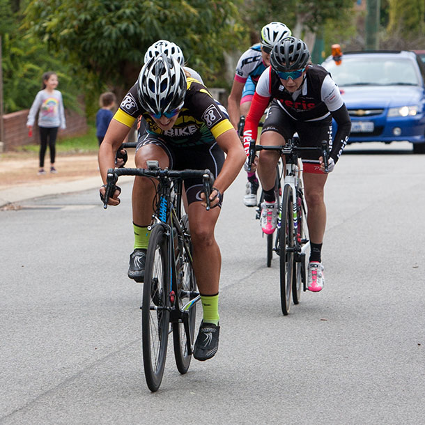 Corrie Fillmore sprints to victory in A grade