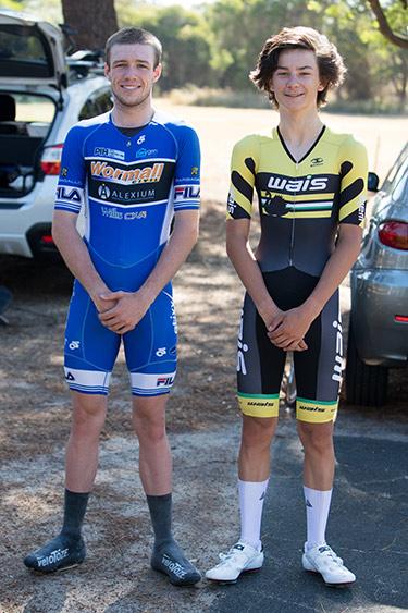 Jordan Dawson and Oliver Bleddyn