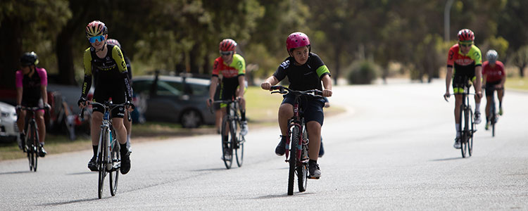 young and old cyclists