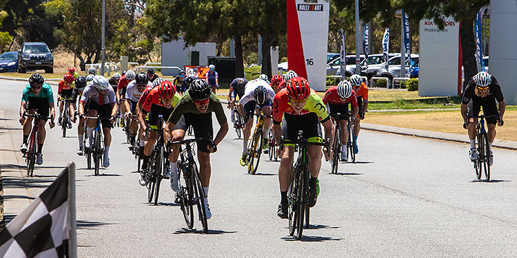 riders sprinting for finish