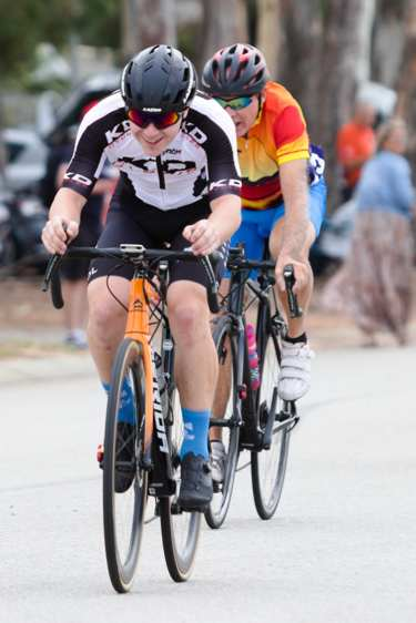 two racing cyclists